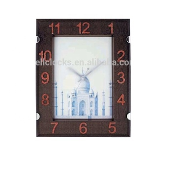 Classic Western Square Face Office Plastic Peligious Decorative Wall Clock