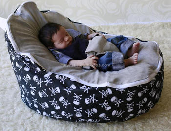 Pirate Skull bone + grey seat pattern Baby bean bag chair/sofa bean bag - & Pirate Skull Bone + Grey Seat Pattern Baby Bean Bag Chair/sofa Bean ...
