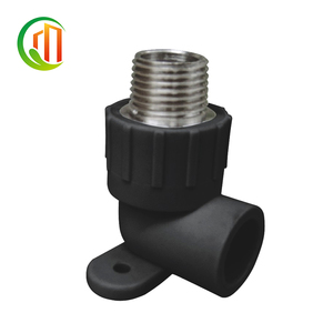 "PN16 20mm*1/2"" 25mm*3/4"" 32mm*3/4"" 40mm*1"" 63mm*2"" HDPE pipe fittings socket weld 90 degree male elbow with plummer block"