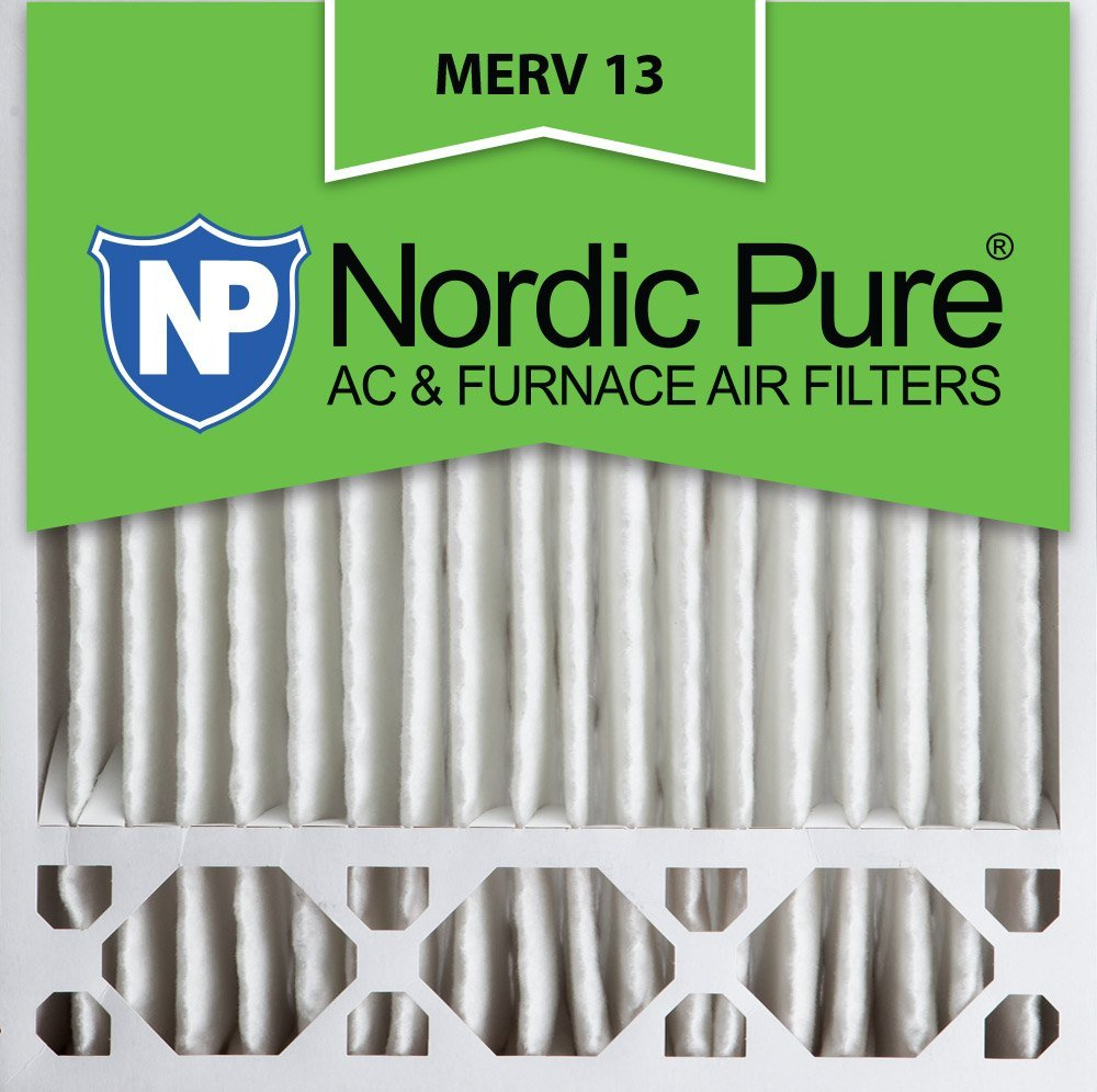 Nordic Pure 20x20x5 (4-3/8 Actual Depth) MERV 13 Honeywell Replacement Pleated AC Furnace Air Filter, Box of 4