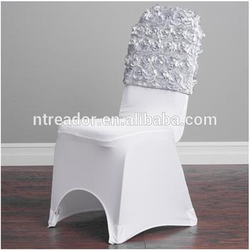 Pleasant White Polyester Rose Chair Caps For Weddings Spandex Chair Covers Caps View Chair Cap Covers Reador Product Details From Nantong Reador Textile Co Theyellowbook Wood Chair Design Ideas Theyellowbookinfo