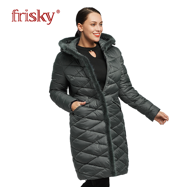 607304207491 2018 Frisky women winter jacket long windproof woman coat Big Size Warm  down jacket Ukraine Women