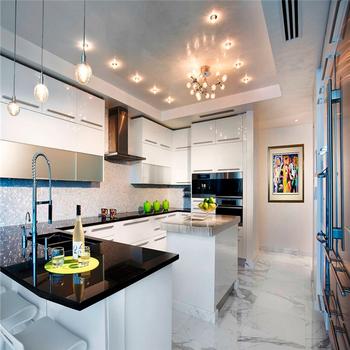 China Made Guangzhou Kitchen Units High Gloss Lacquer Cabinet White