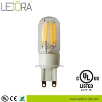 UL approval sapphire 2200k 2700k 5000k dimmable small size led g9 lamp, g9 led light bulb