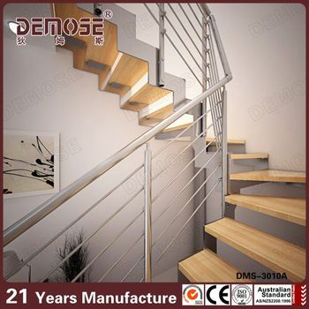 Open Staircase Oak Stringers For Stairs Indoor Stairs