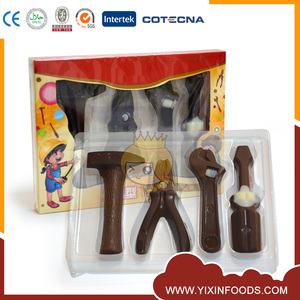 Solid novelty top selling tool kit milk chocolate