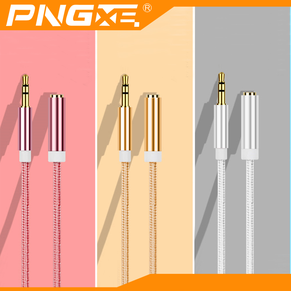 PNGXE gift promotion usb male to 3.5mm car aux addio cord jack female cable