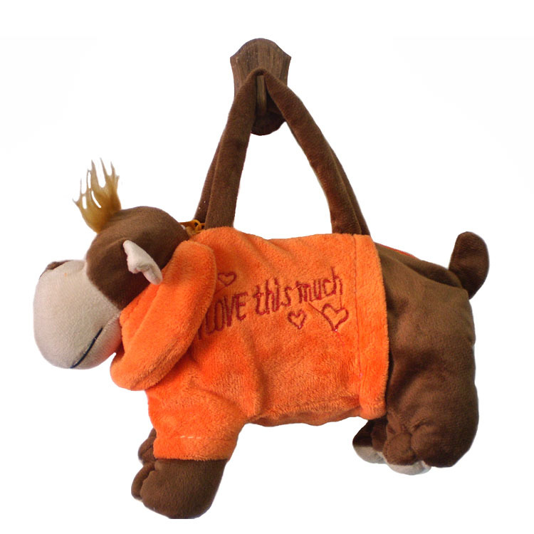 Aliexpress New Orange Dress Plush Monkey Handbags Whole Lovely Cartoon Animal Toy Handbag Kids Birthday Gift Bags In Price On M Alibaba