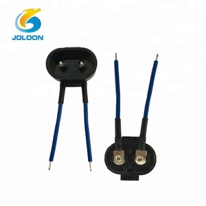 AC-001 17x14mm ac power jack for razor socket, 2 pin ac/dc power adapter with wire