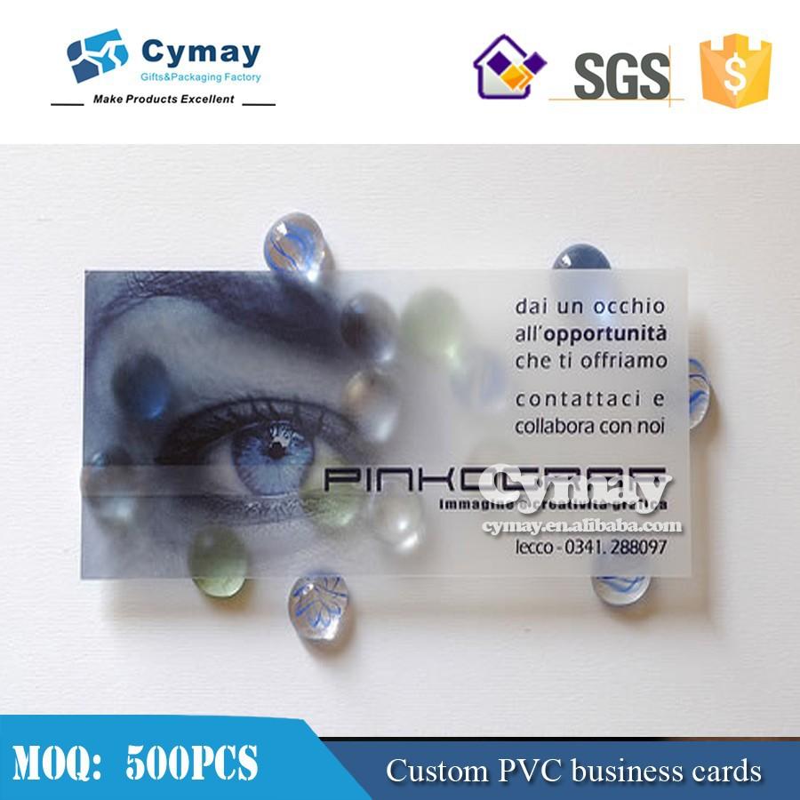 PVC Transparent Carte Miroir En Plastique Cartes De Visite Gros