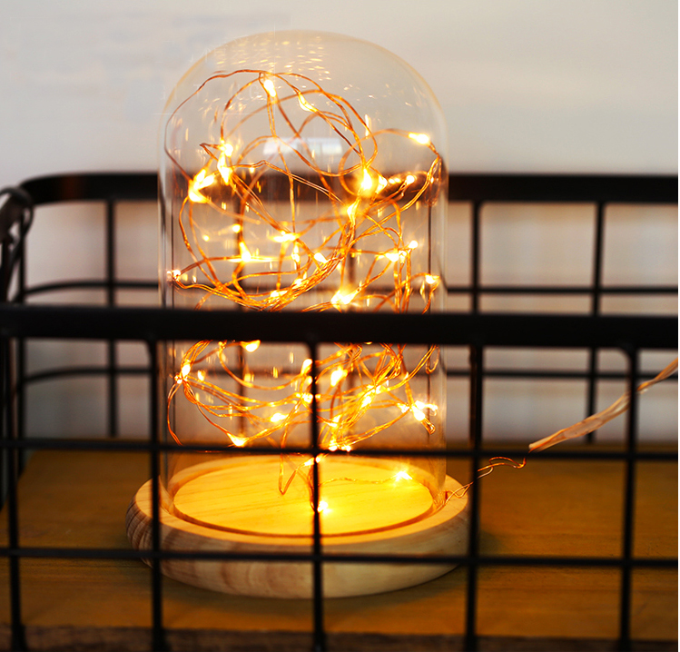 Wholesale Christmas Gift Acrylic Clear Led Glass Dome with Base 11