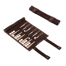 Travel Backgammon Set Leather Backgammon Board Game Roll Up Design