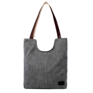 Retro Fashion Tote Bag New Simple Canvas Handbag Large Capacity High Quality Women Single Shoulder Bags