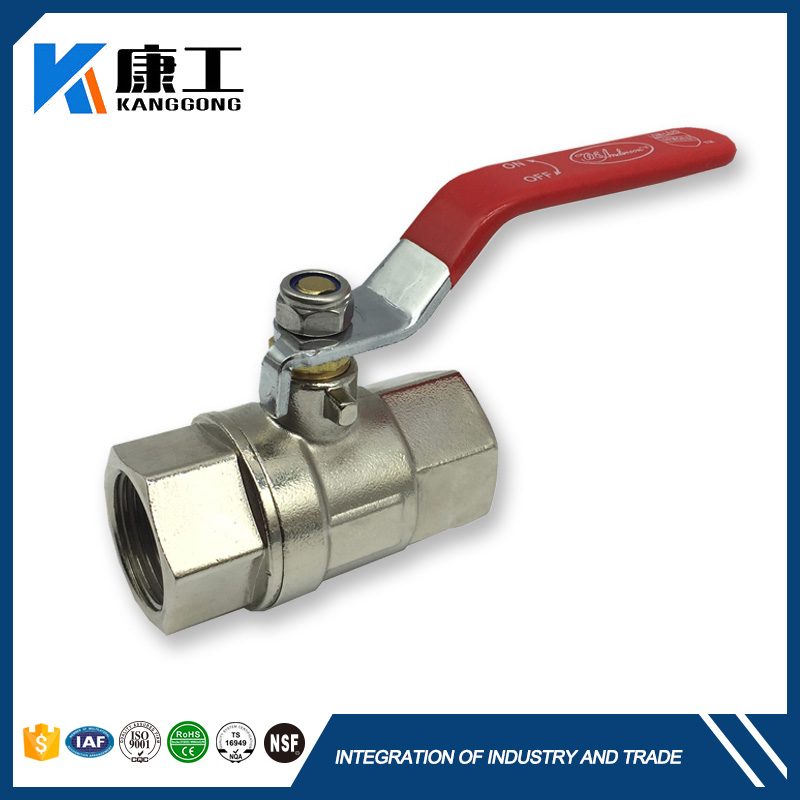 Brass With Lock High Temperatures Low Pressure Ball Valve