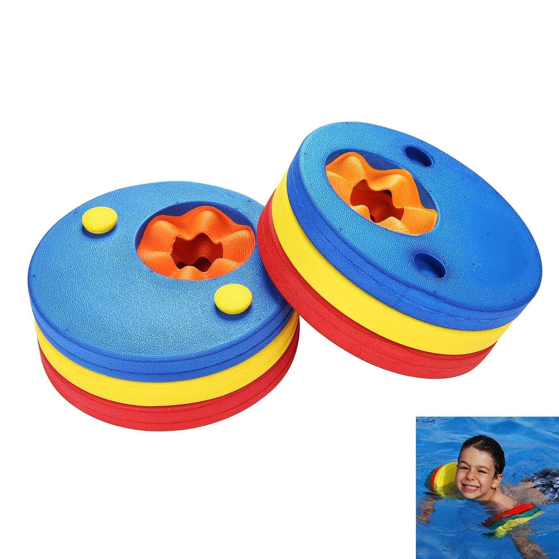 Aolvo Kids Arm Float Discs, (MT) Foam Swim Arm Brand Set Swimming Armbands for Pool (6 Pcs/Set)