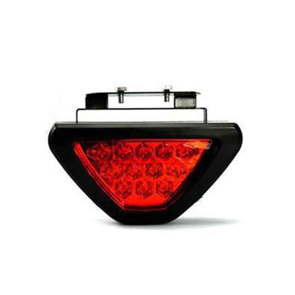 Xuanhemen F1 Style 12V Universal Red Strobe 12 LED Waterproof Rear Tail Racing Brake Lamp Stop Lights Black Shell