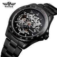2019 Men's Gender Stainless Steel Material High Quality Black Personalized Customizable Wrist Watch