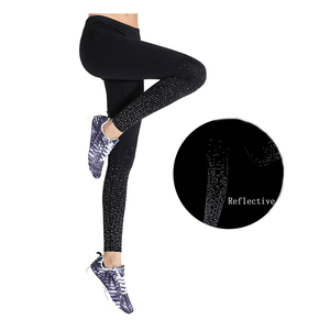 super flex fast dry light reflect night running yoga pants leggings