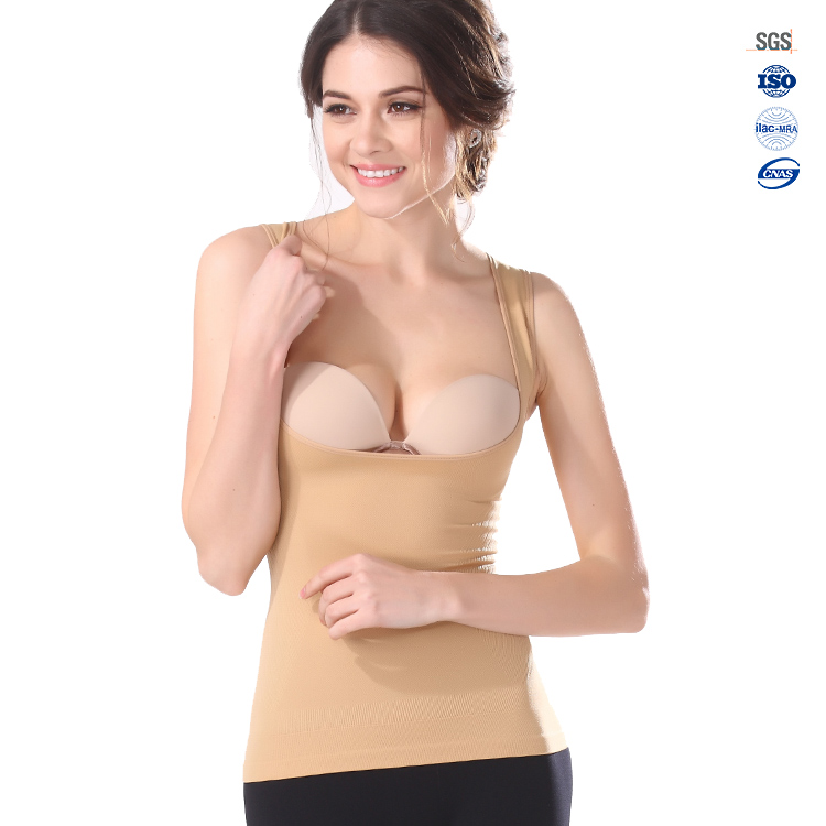 Top quality hot fashional sexy nude body shaper top per le donne