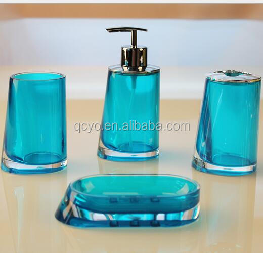 Wholesale colors acrylic bathroom set