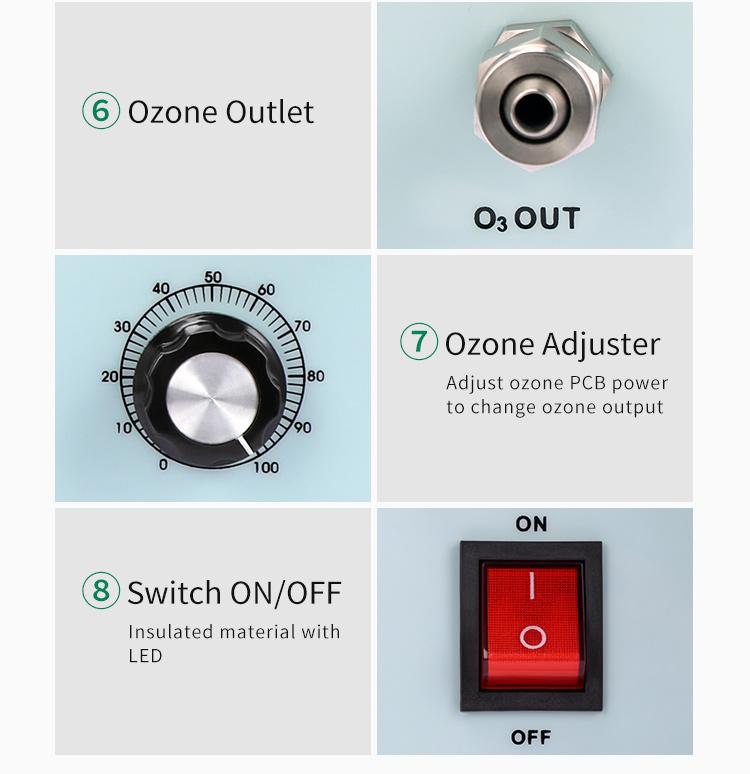 Озоновый регулируемый генератор озона, очиститель воздуха o3 для лаборатории