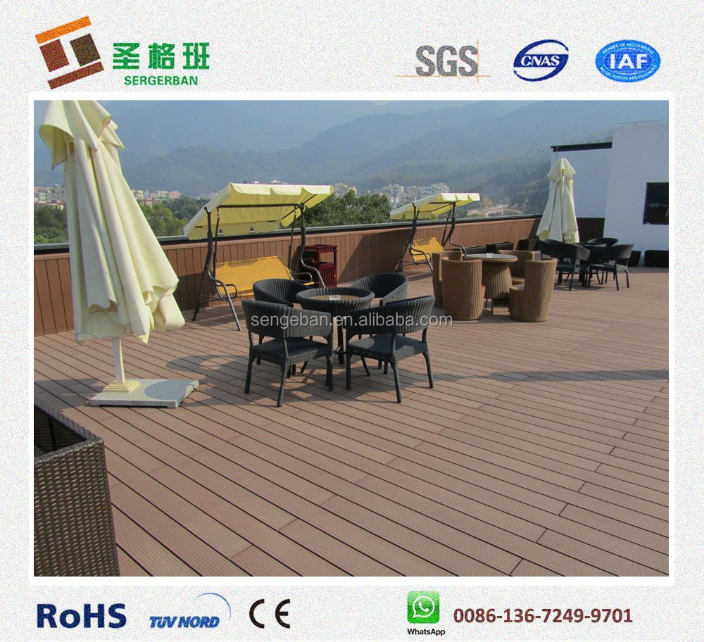 Wpc patio flooring composite patio board plastic patio for The range decking boards