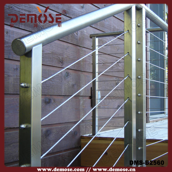 outdoor metal steel pipe stair handrail railing-in