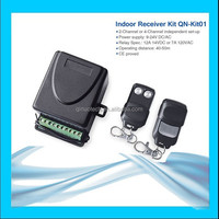 QN-KIT01 fixed code small 2 channels unviersal 315mhz garage door accessory