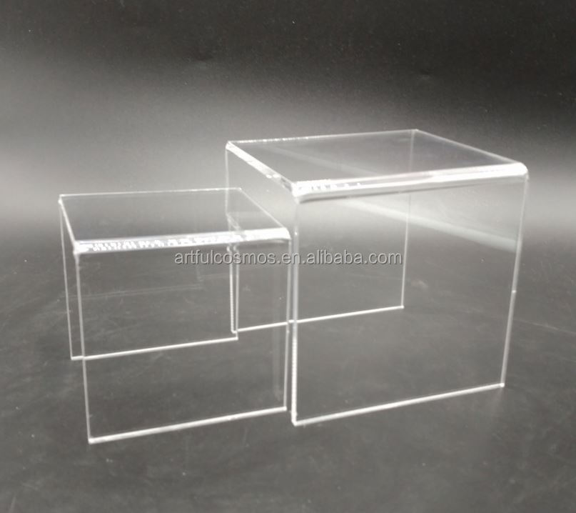Acrylic Bar Shelf Frosted Acrylic Peg Jewelry Display Stand Riser