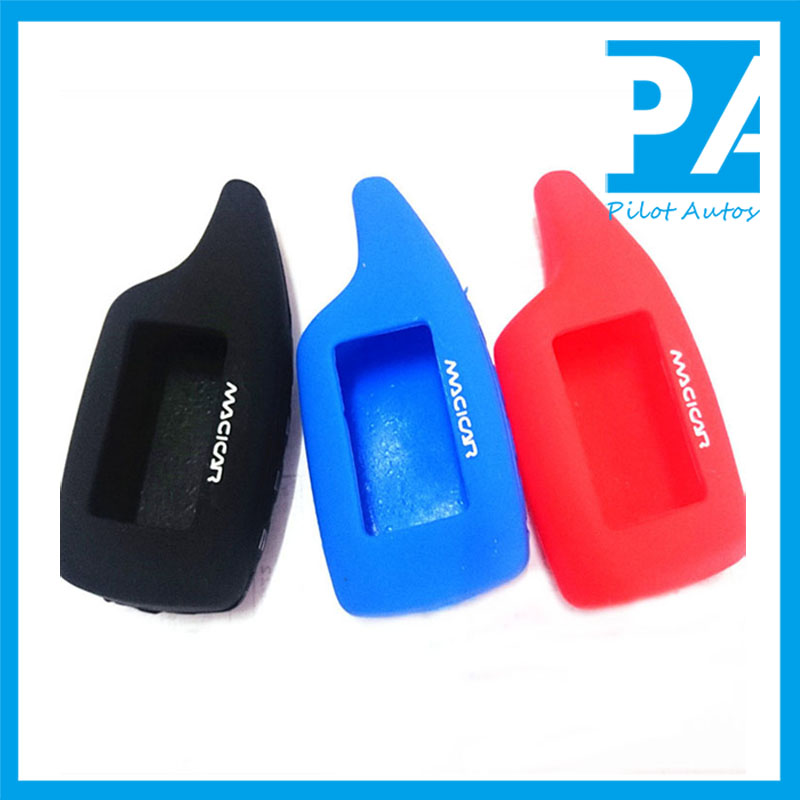 Silicone Car Alarm Remote Key Cover Case For Scher-khan Magicar 5 M902 LCD