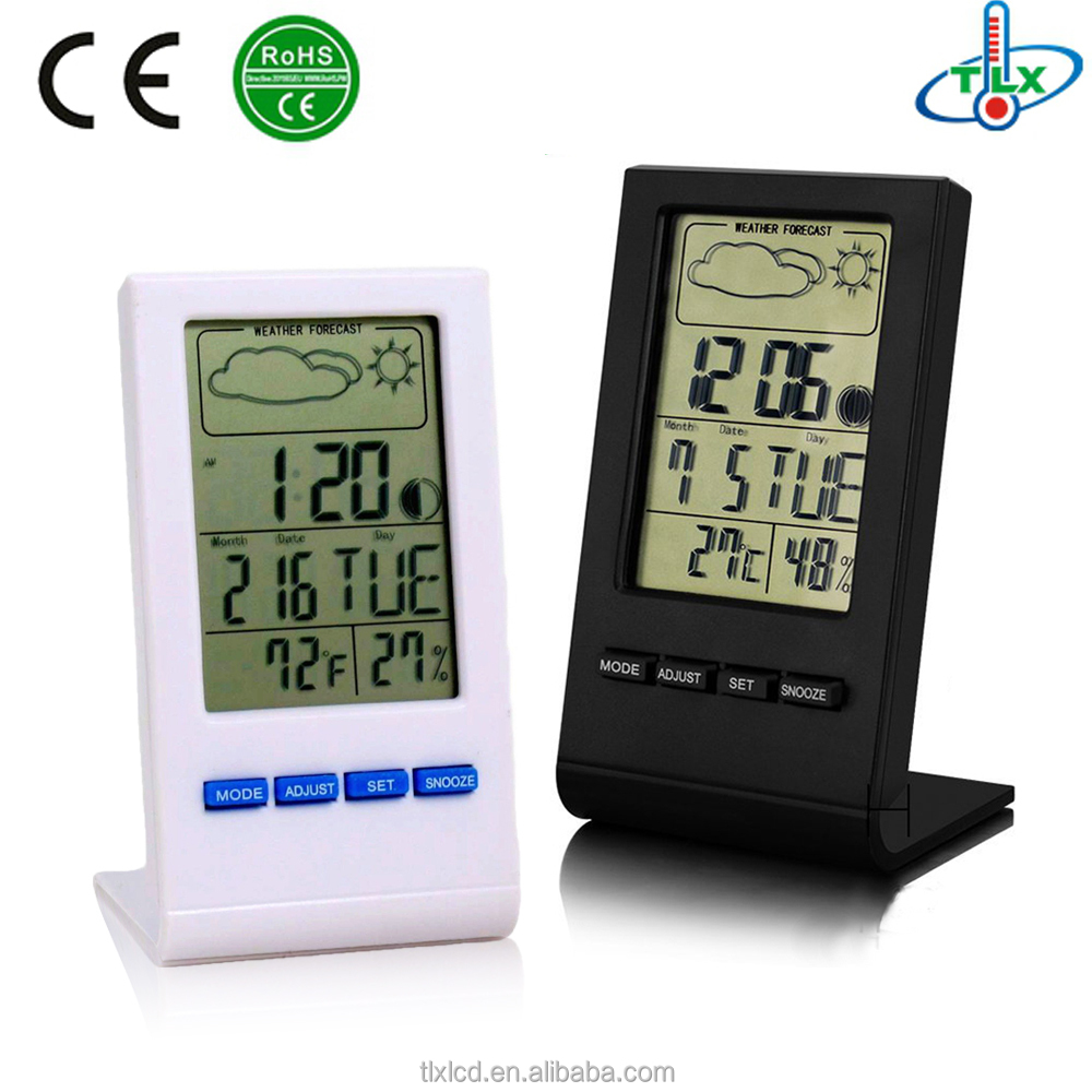 Good quality best sell garden indoor room clock with thermometer