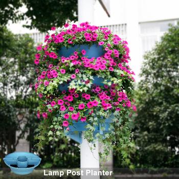 Light Pole Flower Pot With Flower Pot Planter View Light
