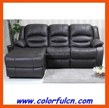 Leather corner ecliner sofa/reclining 3 seat sofa LS627