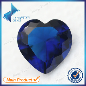 Heart Of The Ocean Synthetic Spinel sapphire Gemstone