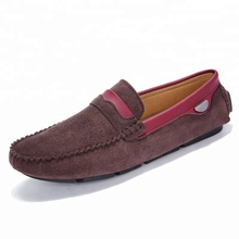 2018 China wholesale high quality moccasins genuine leather men customized soft driving shoes loafers