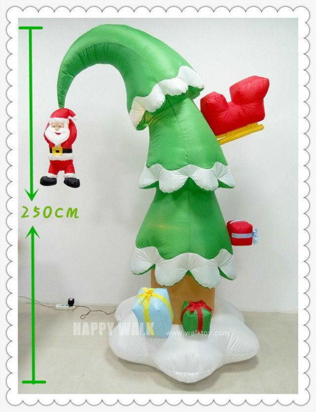 HI CE 240cm <strong>christmas</strong> with accessory <strong>christmas</strong> tree shape flower light inflatable giant <strong>christmas</strong> novelties ornaments