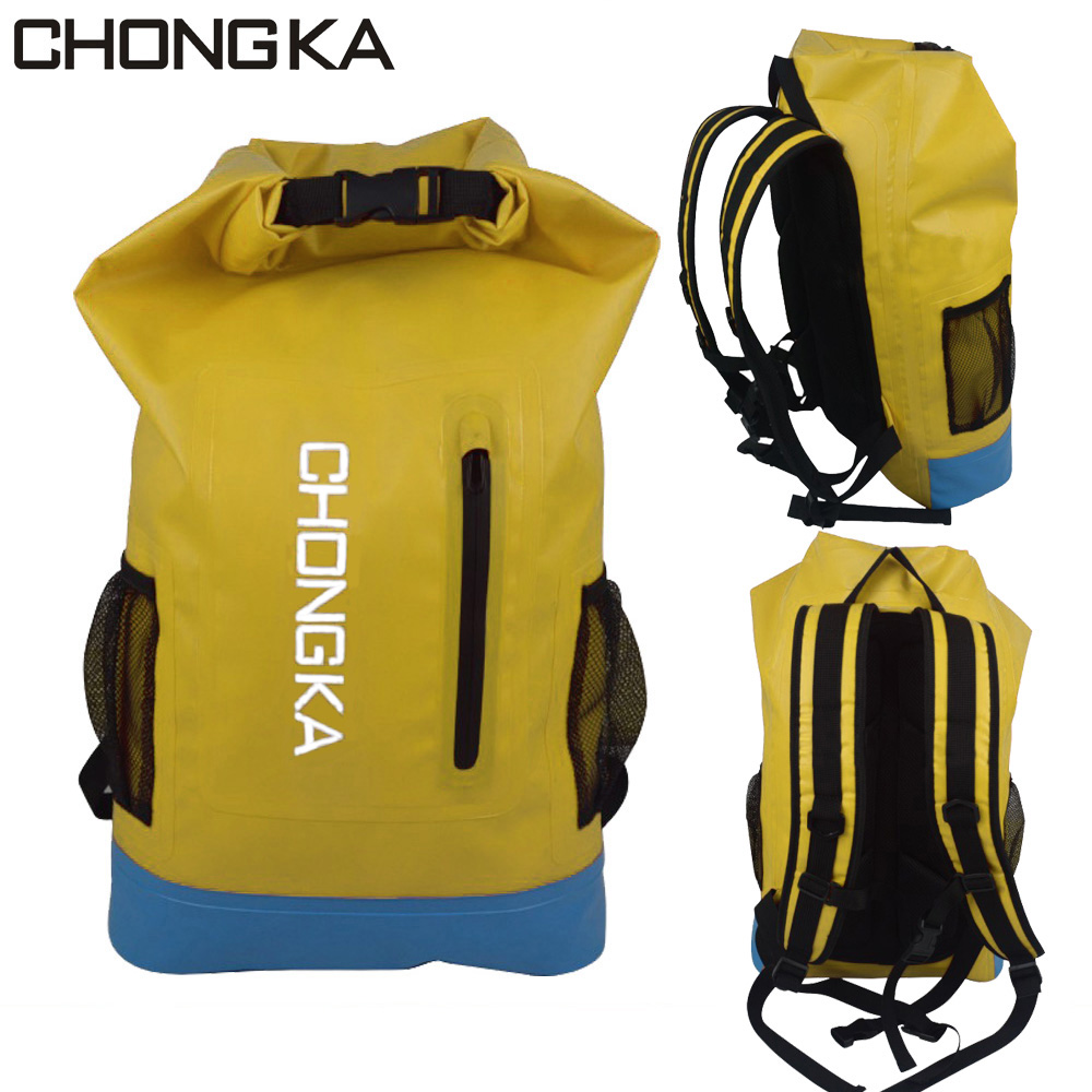 Waterproof PVC big capacity rolling backpack for travel