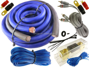 Cheap Standard 4 Gauge Copper Wire Car Amp Wiring Kit Car Audio Cable on