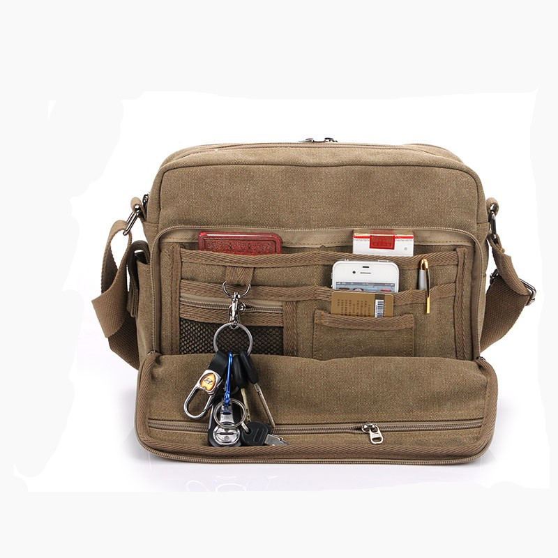 2020 Fashionable High Quality Wholesale Canvas Messenger Bag Sling Side Bag