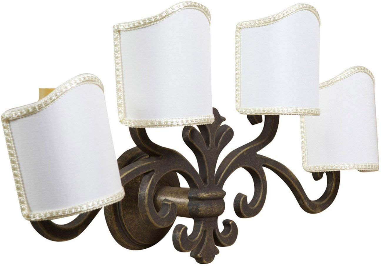 W56XDP17XH30 cm Sized Made in Italy Casting Aged Brass Made Florentine-Style Wall Applique lamp
