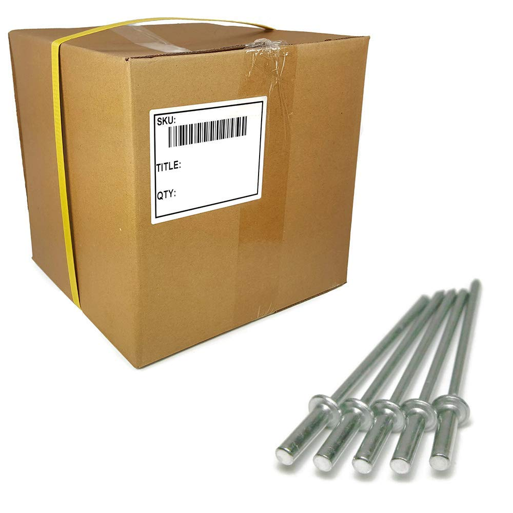 "Aluminum Pop Rivets Closed End/Sealed 1/8"" #4-10,000 Piece Bulk Box (#4-6 (1/8"" x 3/8"" Grip) - 10,000 Piece Bulk Box)"