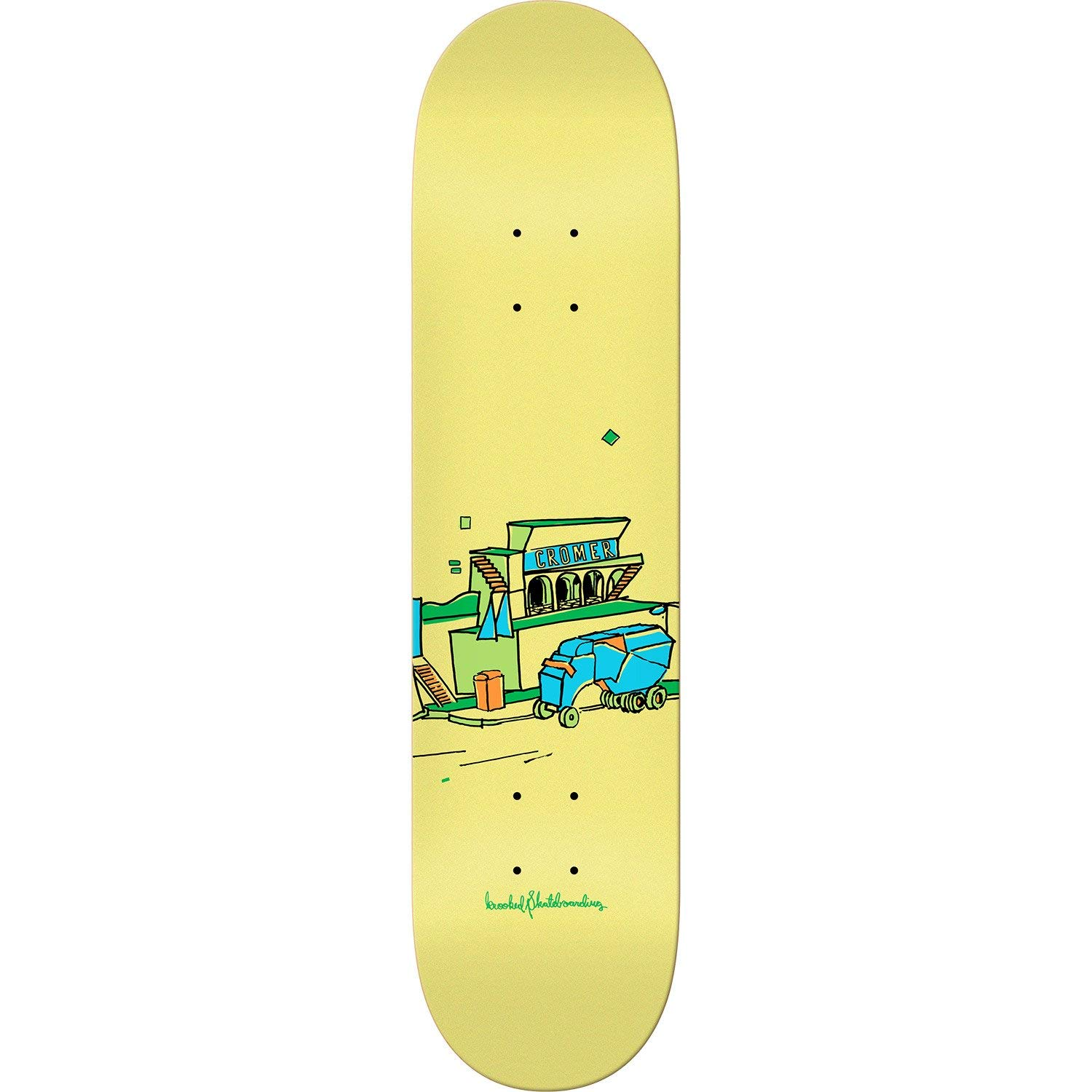 "Krooked Skateboards Brad Cromer Scenery Skateboard Deck - 8.06"" x 31.8"""