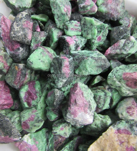 natural raw red and green emerald stone rough unakite raw stone