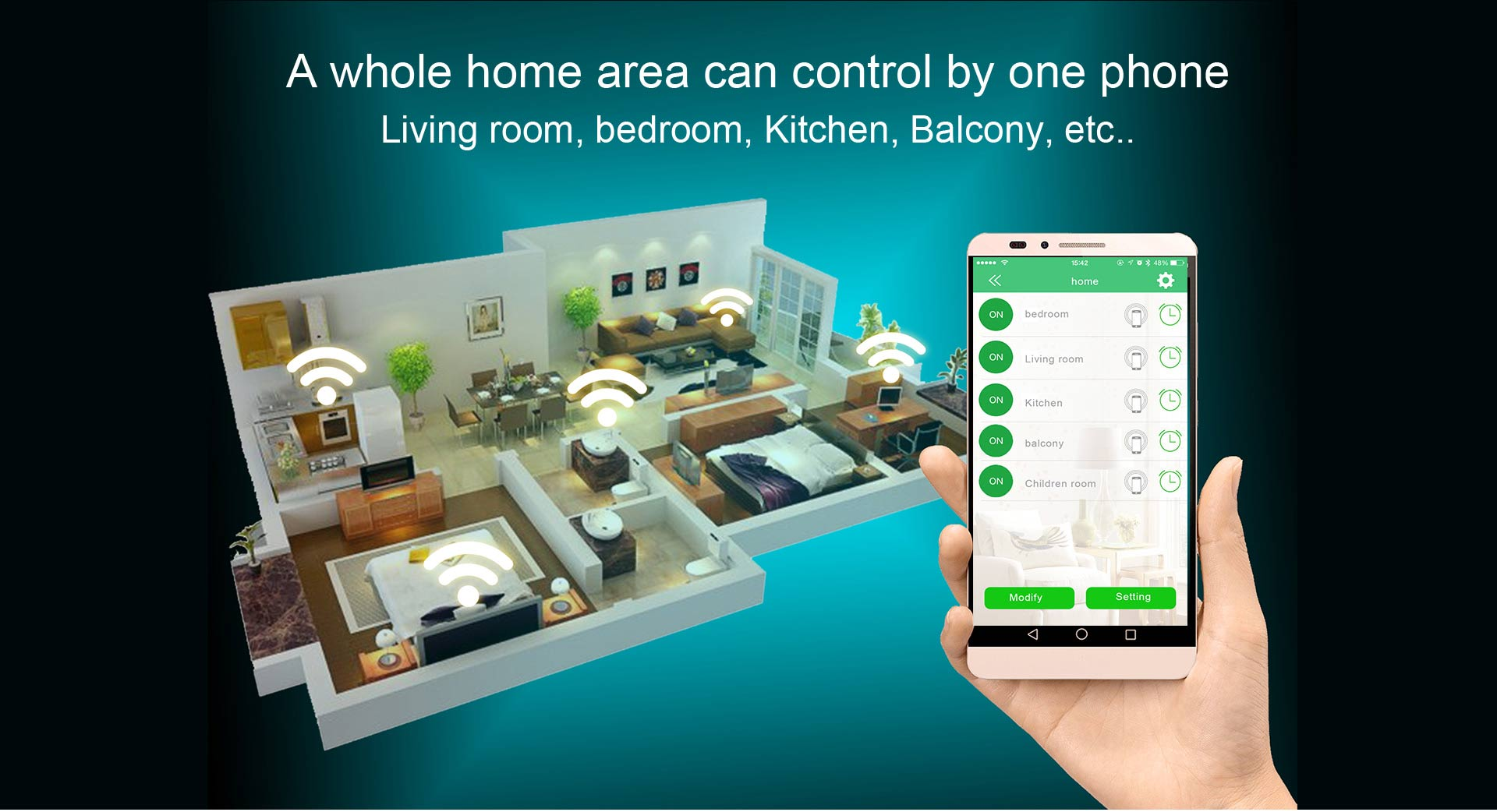 Smart home product Phone app control remote control Switch Smart WiFi switch