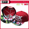 Ladies printing peaks cap puff embroidery front 6 panel sport outdoor hats snapback