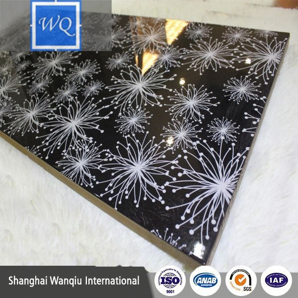 UV paint and acrylic laminated 8mm-18mm mdf slotted board for display door