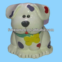 Ceramic Personalized Hand Painted Dog Treat Cookie Jars