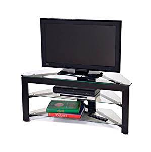 Get Quotations Corner Tv Stands For Flat Screens Gl And Wood In Black 28 32 To