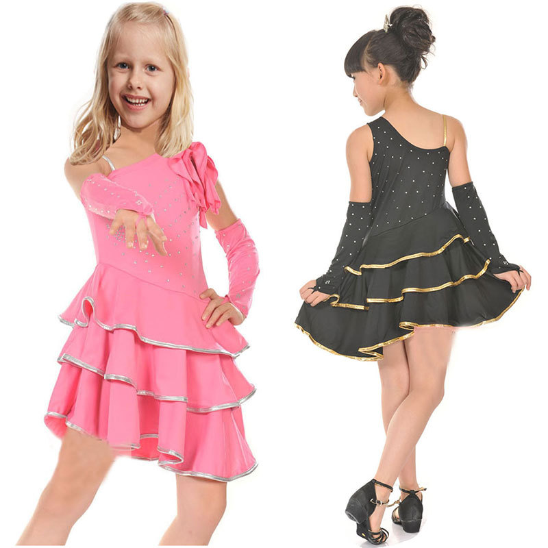 Get Quotations · Latin Dance Dress For Girls Samba Dress Ballroom Dancing  Dress Girl Dancewear Kids Kid Costume Ballet 15a407be805f