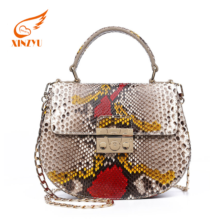 a2e0273657 fashion handbags 2016 new models Color hand-painted Python bags women  handbags